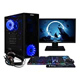 NITROPC - PC Gaming Pack Bronze Rebajas | PC Gamer (CPU Intel G6400 2/4 x 4,00Ghz (Turbo) | Gráfica GT 1030 2GB) + Monitor 21,5' + Teclado + ratón + Cascos | RAM 16GB | M.2 512GB | HDD 1TB