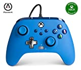 - Mando con cable mejorado PowerA para Xbox: en azul, mando, mando para videojuegos con cable, mando de juego, Xbox Series X|S (Xbox Series X)