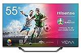 Hisense UHD TV 2020 55AE7400F - Smart TV 55' Resolución 4K, Dolby Vision, Wide Color Gamut, audio DTS Virtual-X, Ultra Dimming, Vidaa U 4.0, con Alexa integrada