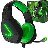 Orzly Auriculares Gaming Compatible con PS5, PS4, PC, Xbox, Nintendo Switch, con microfono, Sonido Premiun RGB Luz LED, cancelación de Ruido - Hornet RXH -20 Sagano Edicion