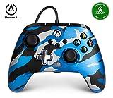 Mando con cable mejorado PowerA para Xbox: en Metallic Camo azul
