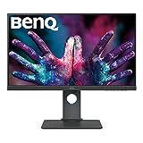 BenQ PD2700U - Monitor Profesional para Diseñadores de 27' 4K UHD (3840x2160, IPS, 100%Rec.709/SRGB, 10 Bits, CAD/CAM, HDMI, DP, DP Out, USB 3.1 x4, Altura ajustable, antireflejo) - Gris