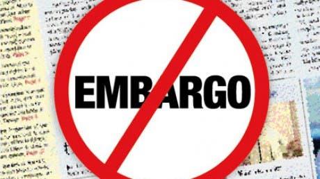Sobre el embargo de análisis hasta la fecha de salida