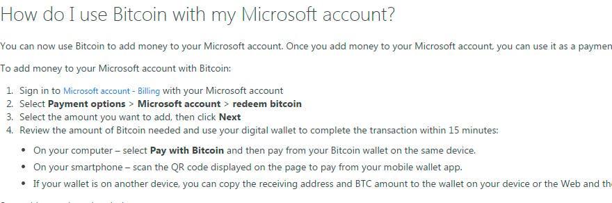 bitcoin Cuenta Microsoft
