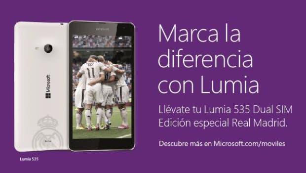 Ya disponible la Edición Especial del Microsoft Lumia 535 Dual SIM Real Madrid 1