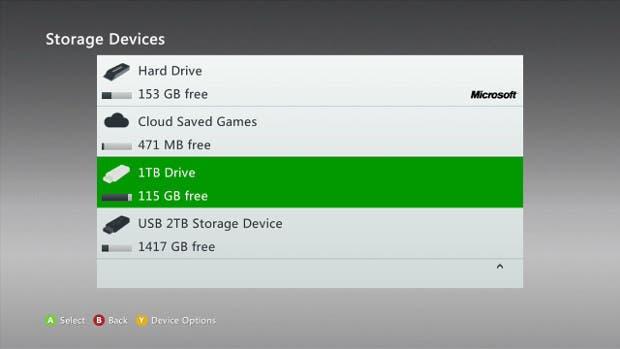 Ya está disponible la nueva actualización de Xbox 360 que permitirá usar discos duros de 2TB 1