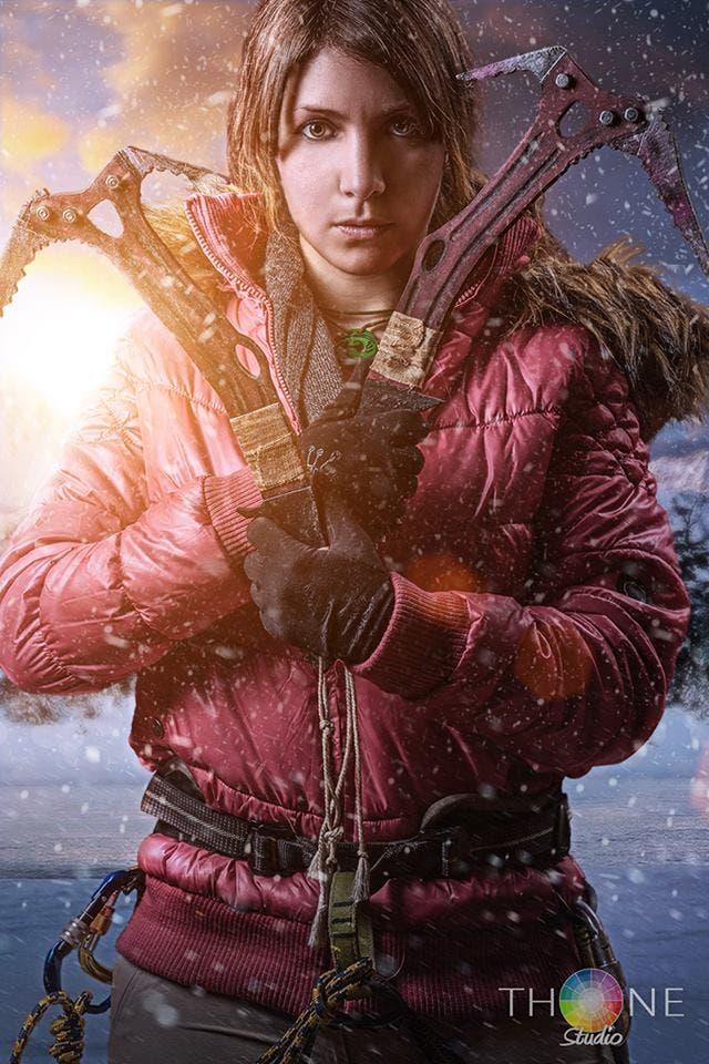 cosplay de Lara Croft rise of the tomb raider 4