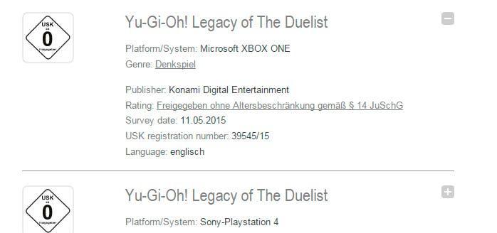 YuGiOh XboxOne