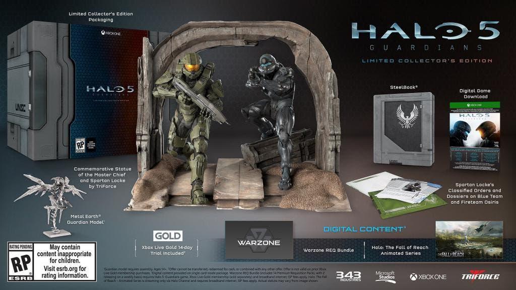 343 industries explica la ausencia de juego físico en Halo 5: Guardians Edición Coleccionista 1