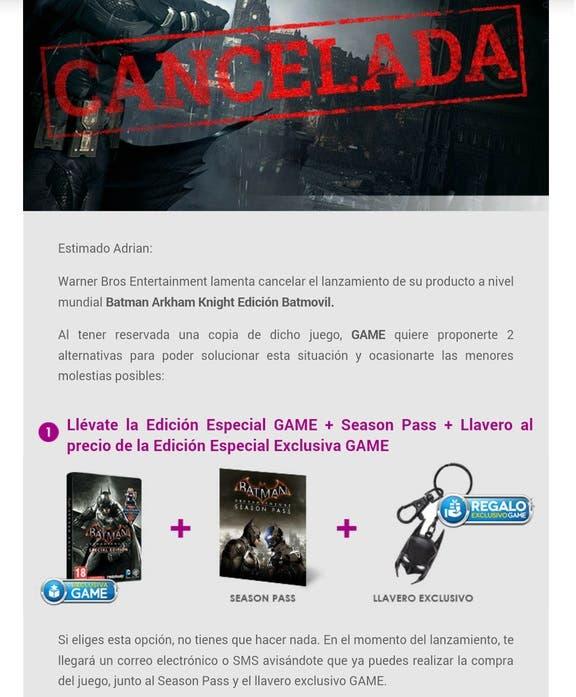 cancelación game