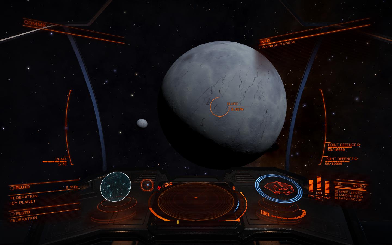 Las imágenes de Plutón servirán a hacer más real Elite Dangerous 1