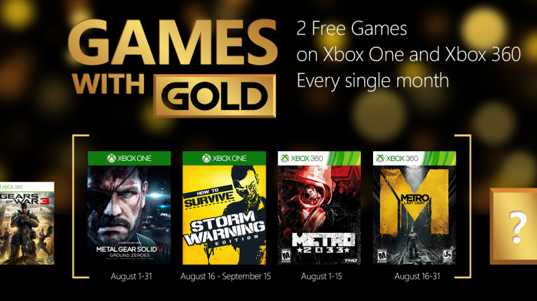 Games With Gold de Agosto para Xbox One y Xbox 360