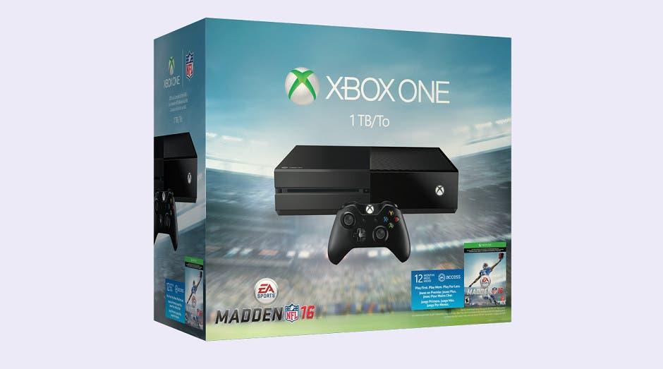 Microsoft anuncia un Pack de Xbox One de 1TB con Madden NFL 16 y un año de EA Access 1