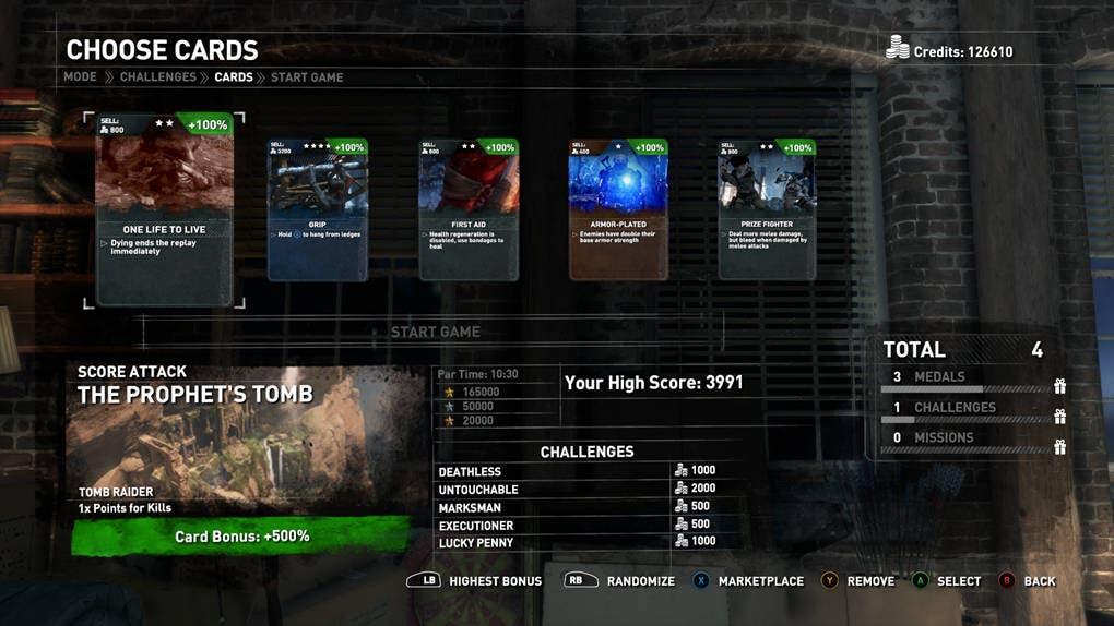 Rise of the Tomb Raider Tarjetas de Expedición