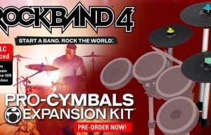 Esta Navidad llegarán los Pro-Cymbals a Rock Band 4, hoy se lanzan nuevos temas