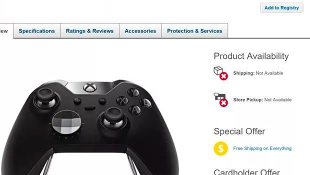 Agotado el nuevo Xbox One Elite Controller, prevista su reposición para navidades 1