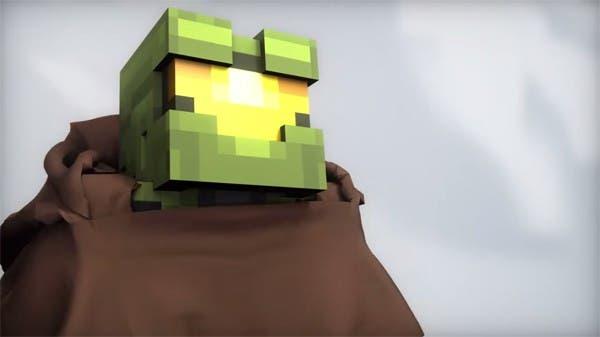 El teaser de Halo 5 recreado en Minecraft 1
