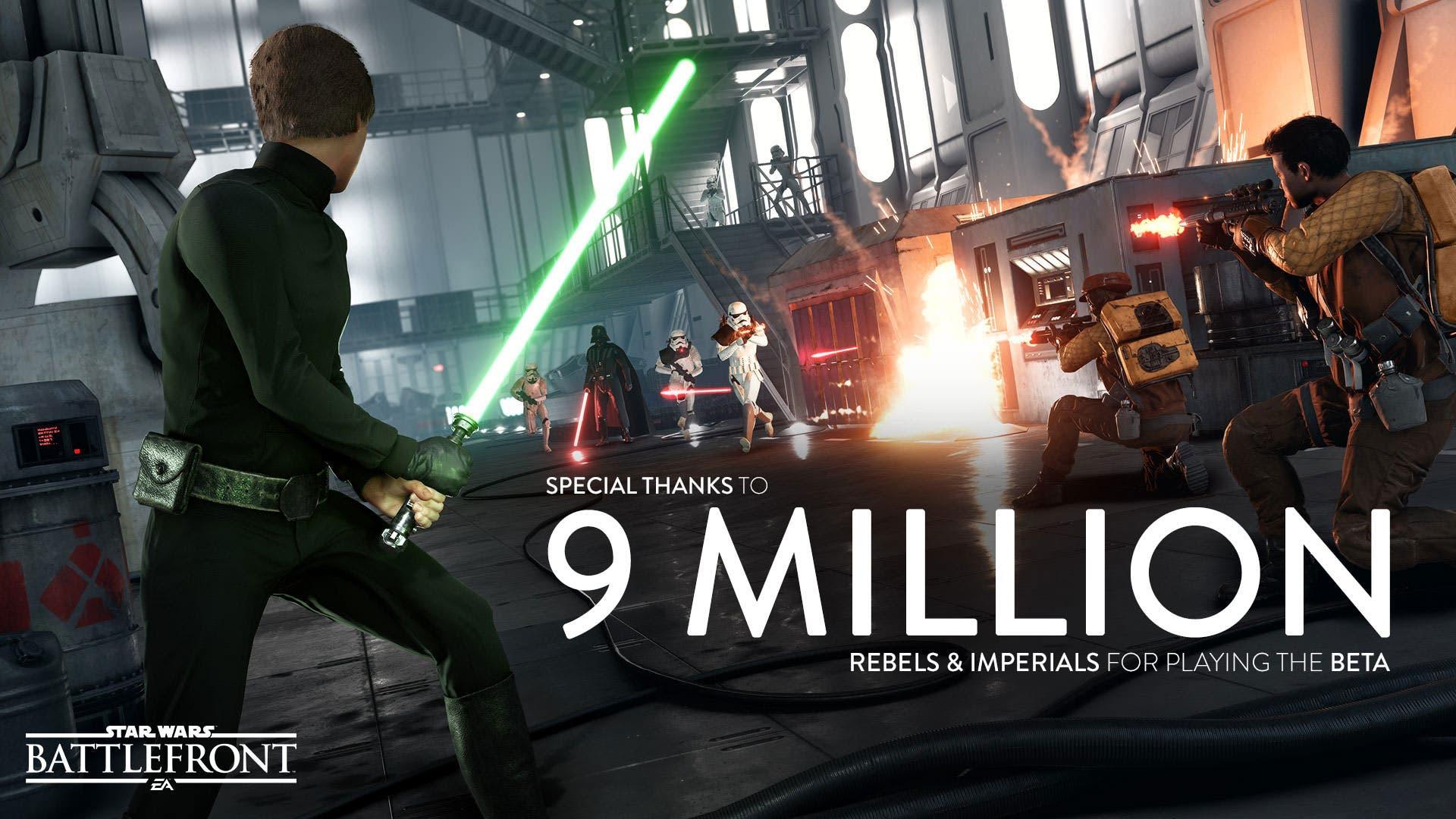 9 millones de usuarios han jugado a la beta de Star Wars Battlefront, récord en EA 1