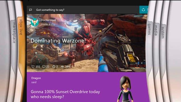La evolución de la interfaz de Xbox 1