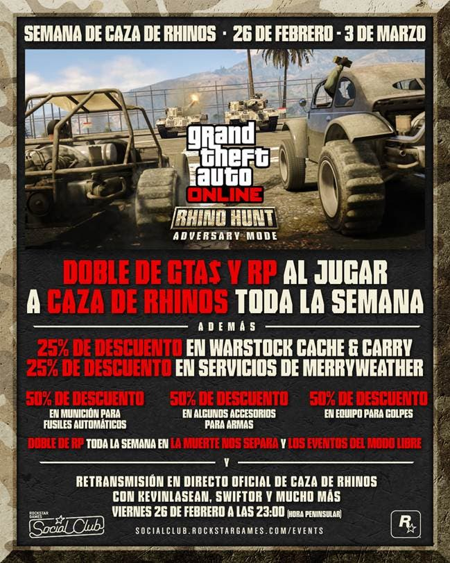 GTA Online Caza de Rhinos 2