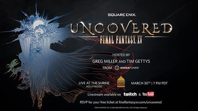 Final Fantasy XV, horarios del evento de presentación 1