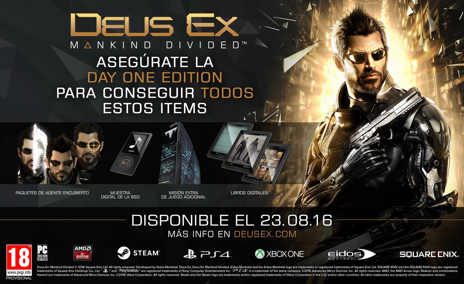 Deus Ex Mankind Divided edición day one