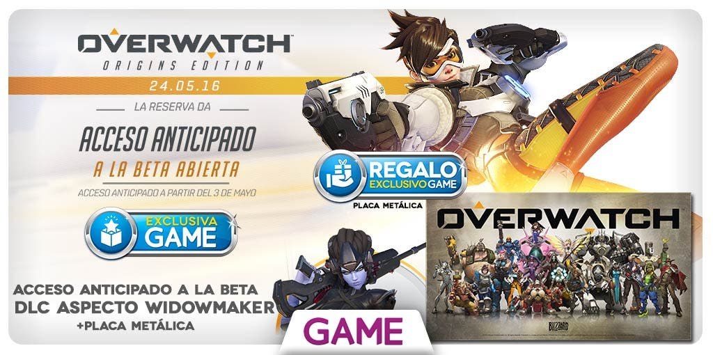 Reserva Overwatch en GAME
