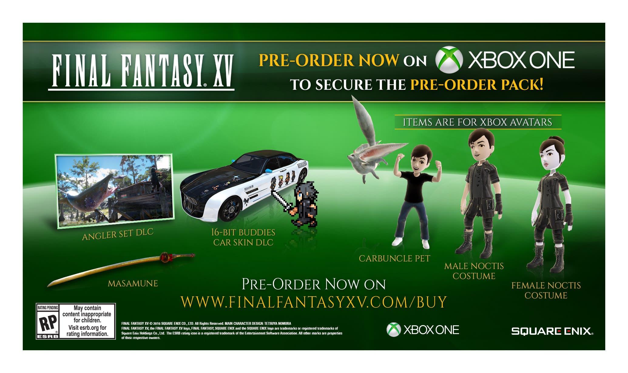 reservas Final Fantasy XV Xbox One