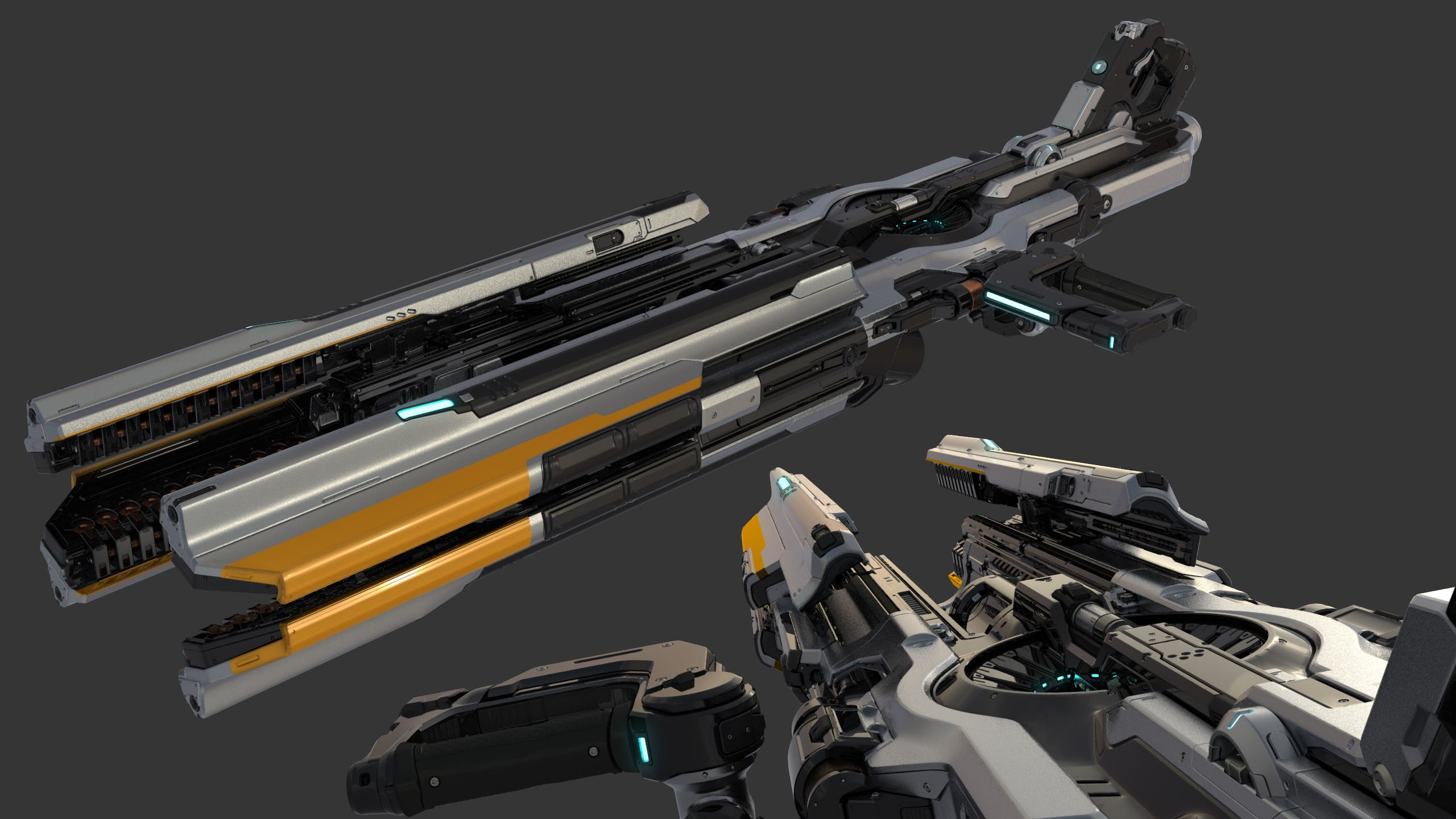 Cameron Kerby - Gauss Cannon Render