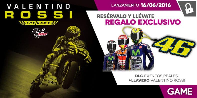 reserva en GAME de MotoGP 16: Valentino Rossi The Game