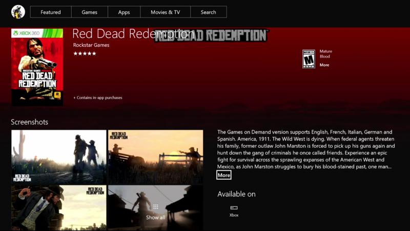 RedDeadRedemptionXboxStore