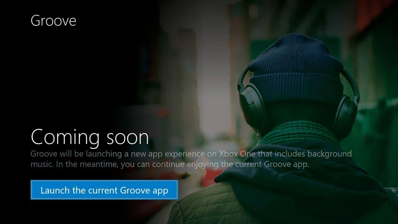 La música de fondo llegará a Groove, la app de Microsoft, próximamente.