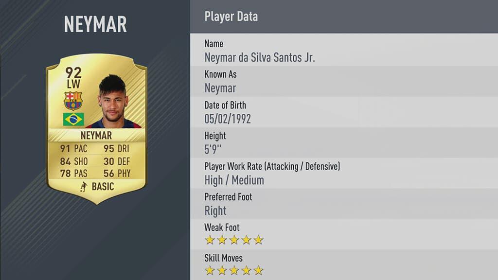 10 mejores jugadores de FIFA 17