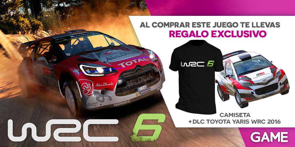game presenta sus incentivos para comprar wrc 6. Black Bedroom Furniture Sets. Home Design Ideas