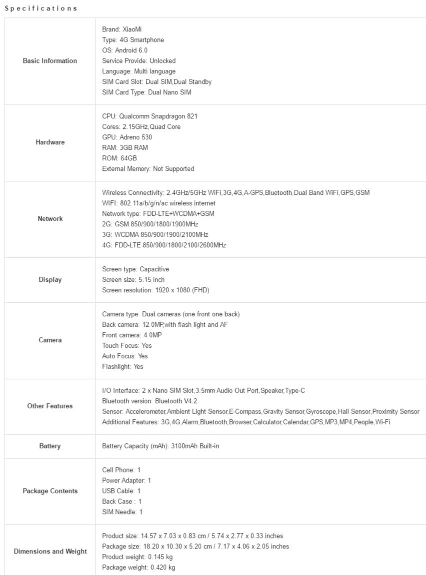 especificaciones-tecnicas-xiaomi-mi-5s