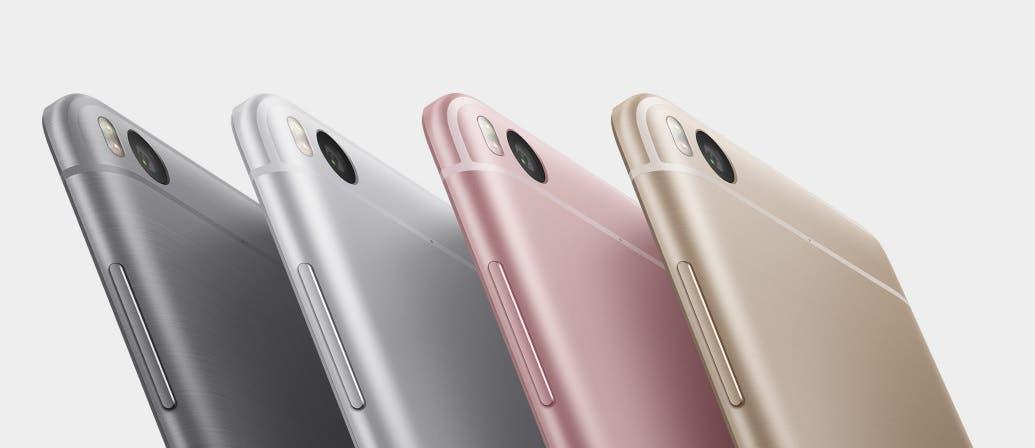 El Xiaomi Mi 5s está disponible en 4 colores bajo una base de metal: negro, blanco, rosa y dorado.
