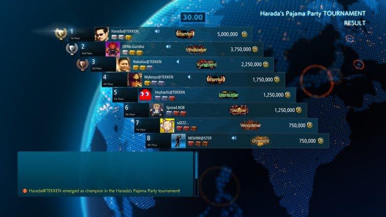 Se confirma el modo Online Tournament para Tekken 7 1