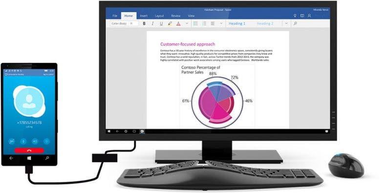 Microsoft confirma que los móviles con Windows 10 podrán ejecutar software de PC 1