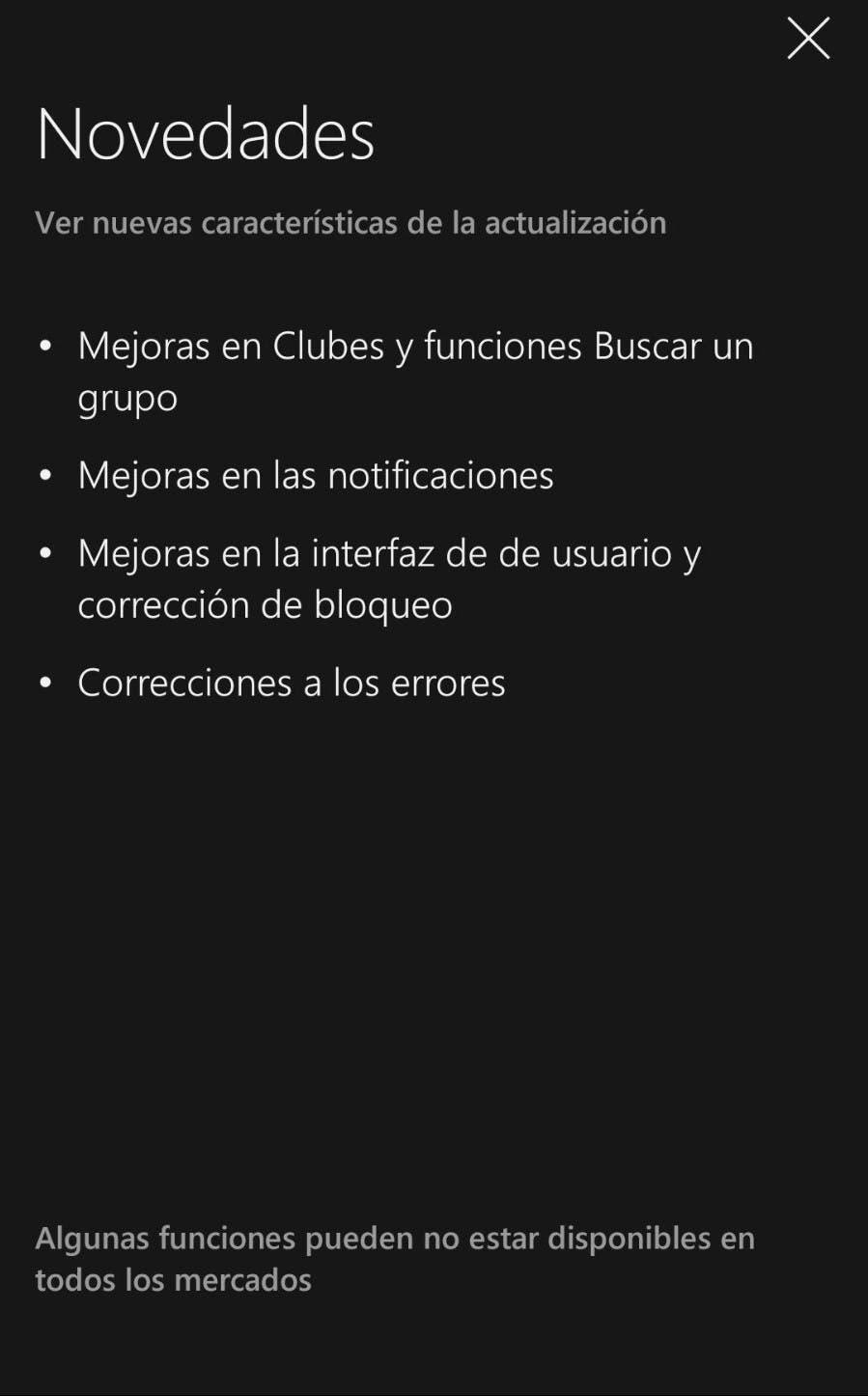 La app de Xbox mejora las funciones de club con su última actualización 2