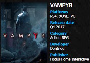 Nuevos detalles sobre el lanzamiento de Vampyr y de Call of Cthulhu 3