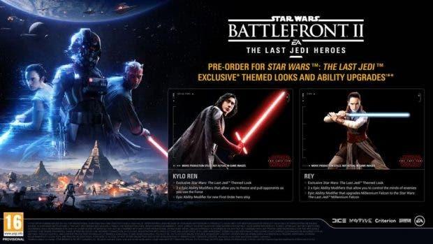 Revelados los trajes de Rey y Kylo Ren para Star Wars: Battlefront 2 2