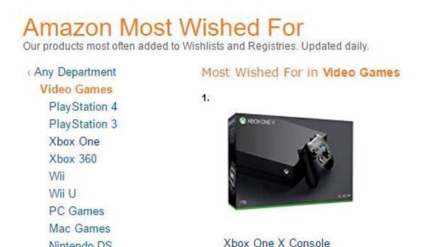 Xbox One X es la consola más deseada de Amazon 1