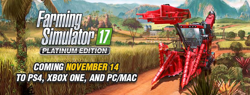 Confirmada la fecha de lanzamiento de la edición Platinum de Farming Simulator 17 2