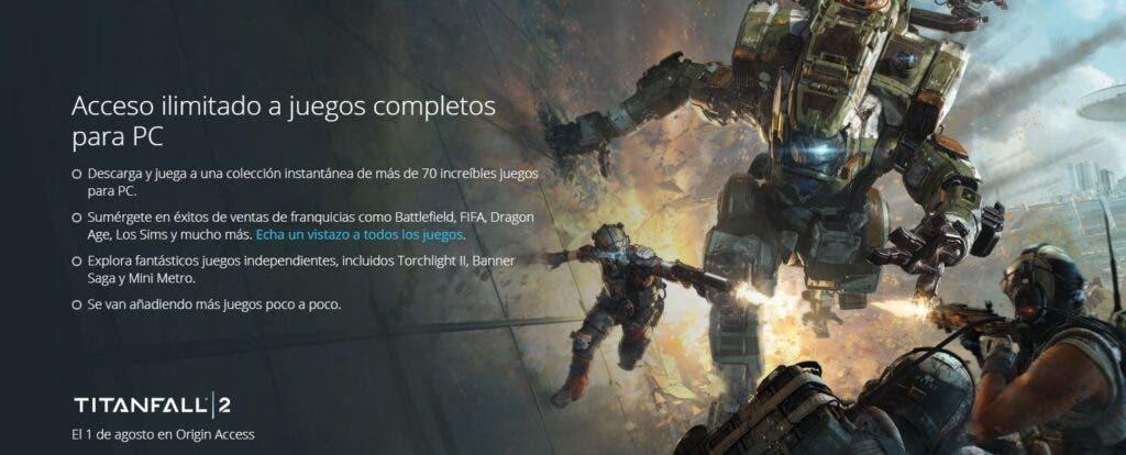 Titanfall 2 podría llegar a The Vault de EA Access el 1 de agosto 2