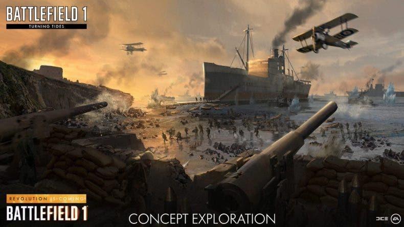 Fecha de lanzamiento de Turning Tides, la expansión anfibia de Battlefield 1 1