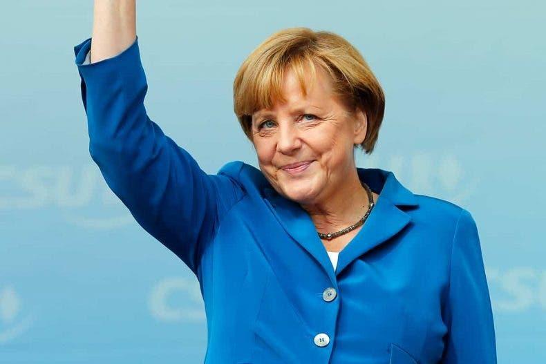 A Angela Merkel le encanta su versión de Minecraft de la Gamescom 1