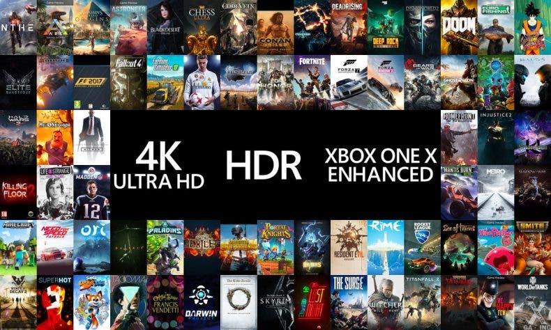 Xbox One X Confirma Mas Del Doble De Juegos Mejorados Que Ps4 Pro En