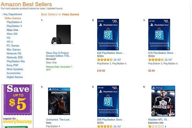 Xbox One X Edición Project Scorpio arrasa: reservas agotadas y más vendido en Amazon 2