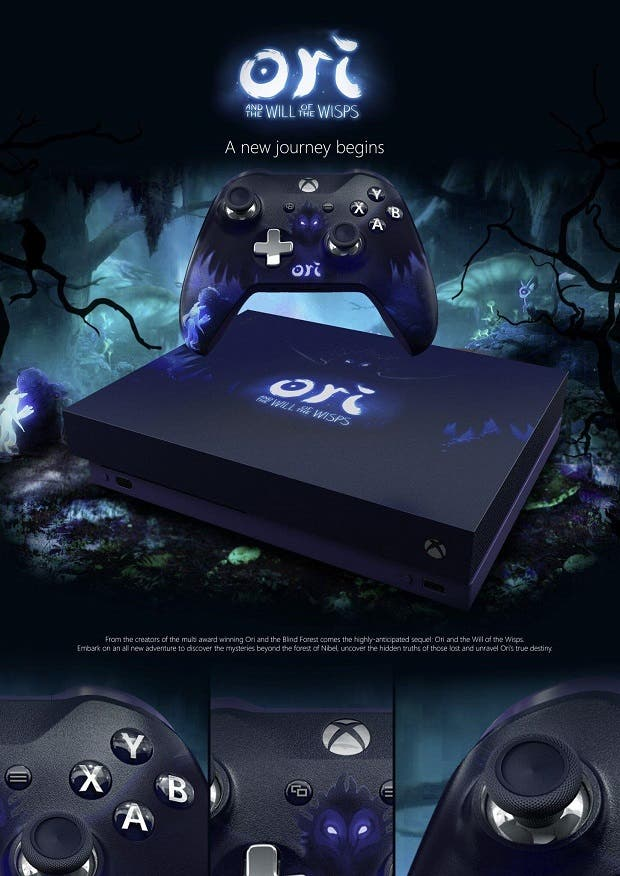 Espectacular Xbox One X inspirada en Ori and The Will of The Wisps 2