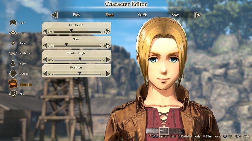 Attack on Titan 2, anunciada la posibilidad de crear un personaje personalizable 2